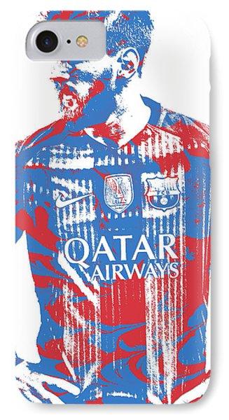 Lionel Messi F C Barcelona Argentina Pixel Art 7 IPhone Case