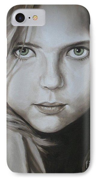 Little Girl With Green Eyes IPhone Case