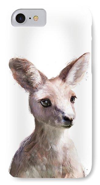 Animals iPhone 8 Case - Little Kangaroo by Amy Hamilton