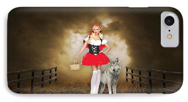 Little Red Riging Hood And The Big Bad Wolf IPhone Case