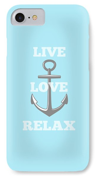 Live Love Relax - Customizable Color IPhone Case