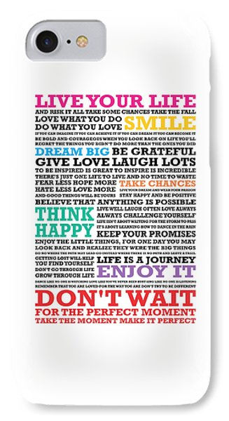 Live Your Life And Risk It All Take Some Chances Take The Fall Love Inspirational Quotes Poster IPhone Case
