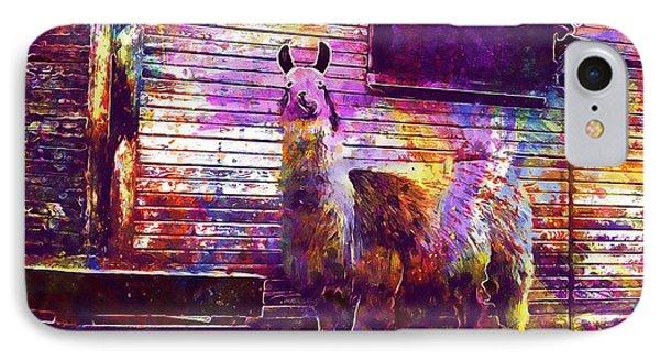 Llama Light Llama Banana Ears  IPhone Case