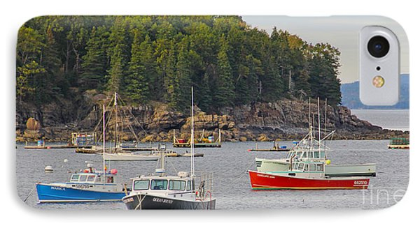 Lobster Boats In Bar Harbor IPhone Case