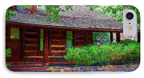 Log Cabin Front Porch IPhone Case