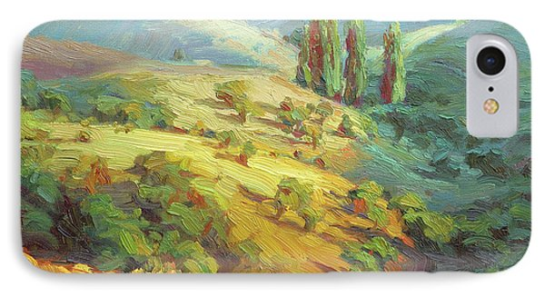 Impressionism iPhone 8 Case - Lombardy Homestead by Steve Henderson
