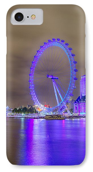 London Cityscape At Night 5x7 IPhone Case
