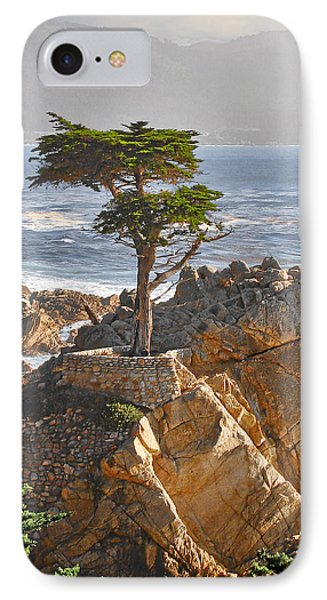 Landscape iPhone 8 Case - Lone Cypress - The Icon Of Pebble Beach California by Christine Till