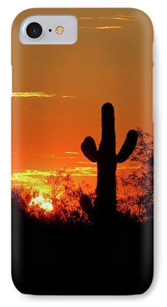 Lone Saguaro Sunrise IPhone Case