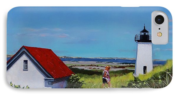 Long Point Light Two IPhone Case