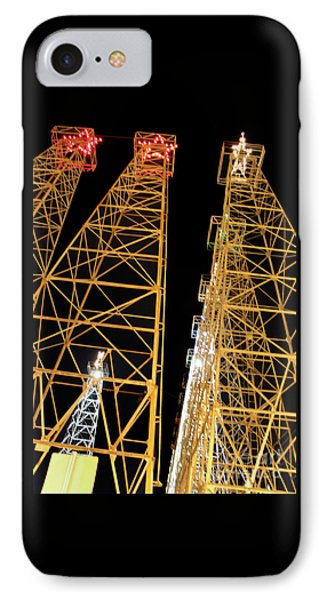 Looking Up At The Kilgore Lighted Derricks IPhone Case