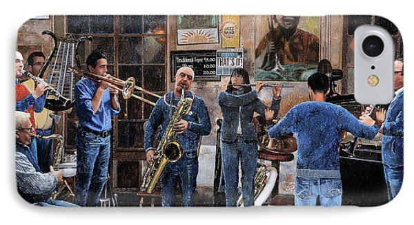 Trumpet iPhone 8 Case - L'orchestra by Guido Borelli