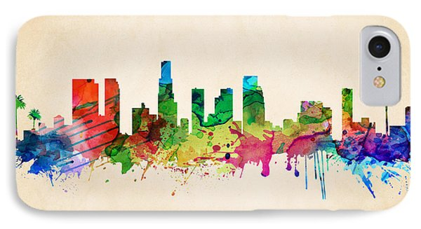 Los Angeles Cityscape IPhone Case