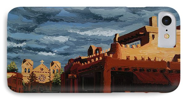 IPhone Case featuring the painting Los Farolitos,the Lanterns, Santa Fe, Nm by Erin Fickert-Rowland