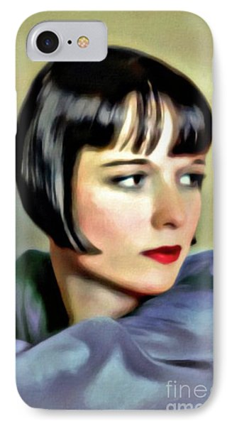 Louise Brooks, Vintage Actress, Digital Art By Mary Bassett IPhone Case