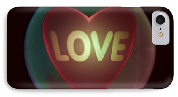 Love Heart Inside A Bakelite Round Package IPhone Case