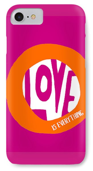 IPhone Case featuring the painting Love Is Everything by Lisa Weedn