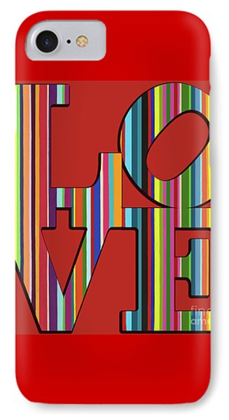 IPhone Case featuring the mixed media Love Is Love by Carla Bank