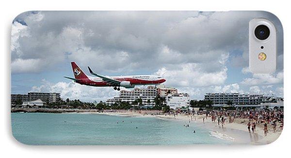 Low Landing At Sonesta Maho Beach IPhone Case