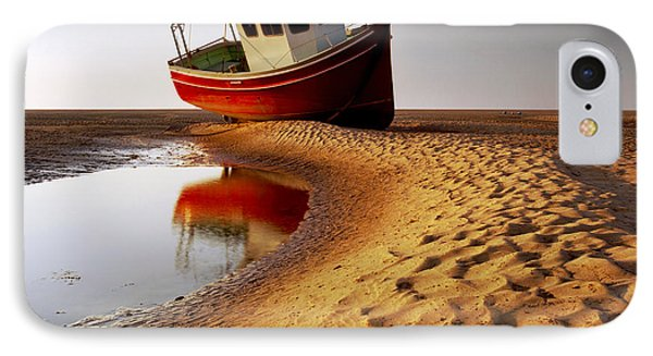 England iPhone 8 Case - Low Tide by Peter OReilly