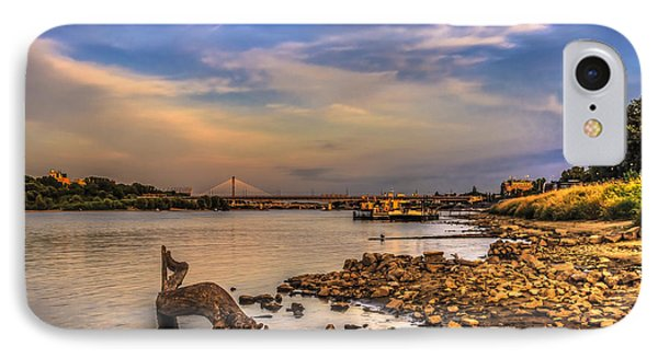 Low Water Vistula Riverscape In Warsaw IPhone Case