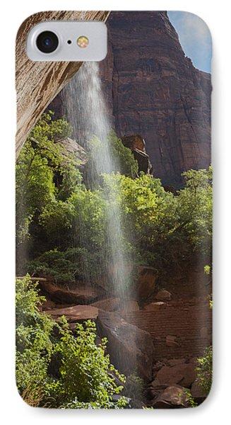 Lower Emerald Pool Falls In Zion IPhone Case