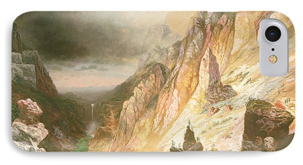 Lower Falls, Grand Canyon Of The Yellowstone River IPhone Case