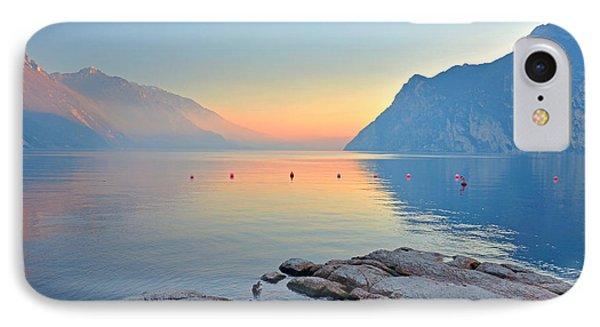 Luce Della Sera Sul Lago Di Garda  IPhone Case