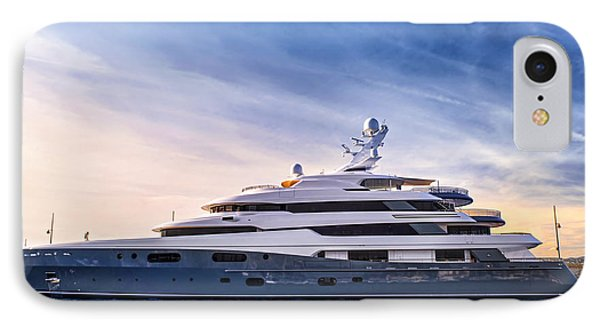 Boat iPhone 8 Case - Luxury Yacht by Elena Elisseeva