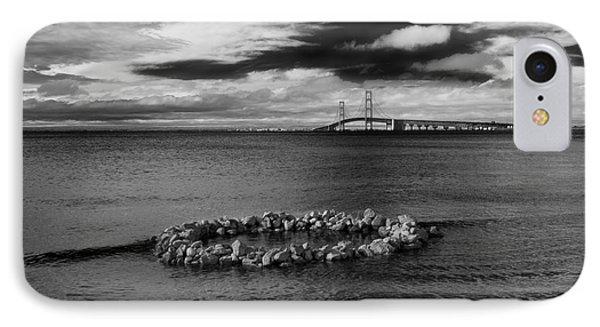 Mackinac Bridge - Infrared 03 IPhone Case