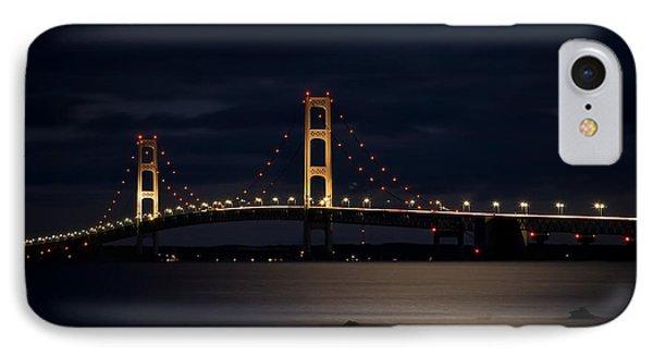 Mackinac Bridge At Night IPhone Case