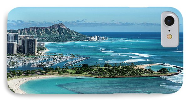Helicopter iPhone 8 Case - Magic Island To Diamond Head by Sean Davey