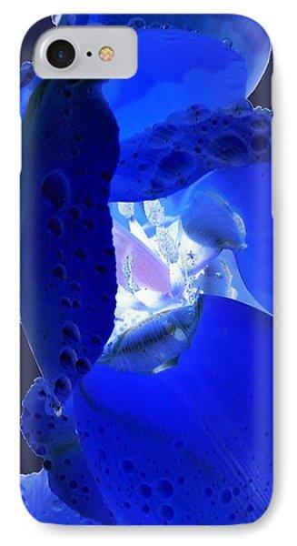 Magical Flower I - Blue Velvet IPhone Case
