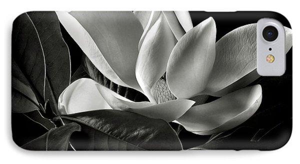 Magnolia In Black And White IPhone Case