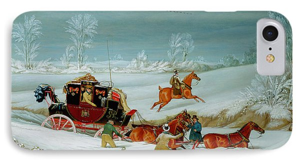 Mail Coach In The Snow IPhone Case