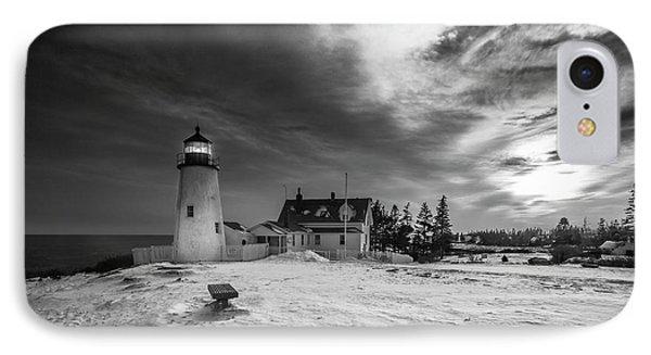 Maine Coastal Storm Over Pemaquid Lighthouse IPhone Case