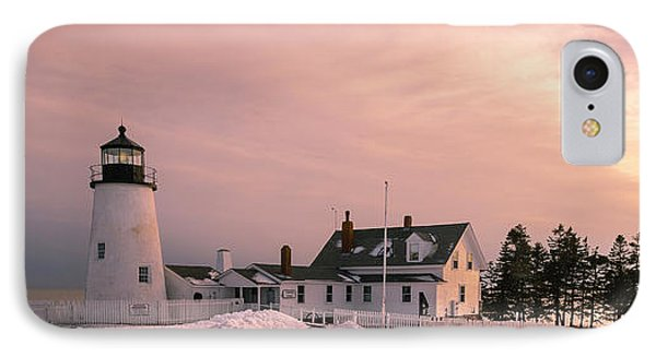 Maine Pemaquid Lighthouse After Winter Snow Storm IPhone Case