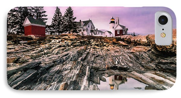 Maine Pemaquid Lighthouse Reflection In Summer IPhone Case