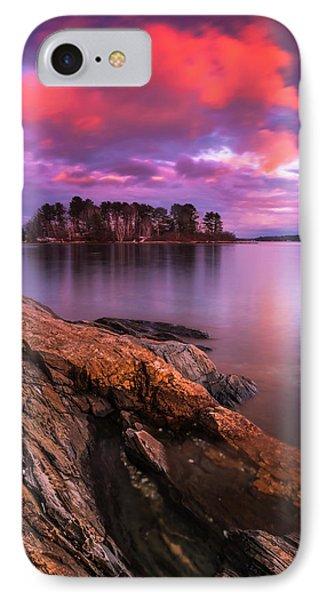 Maine Pound Of Tea Island Sunset At Freeport IPhone Case