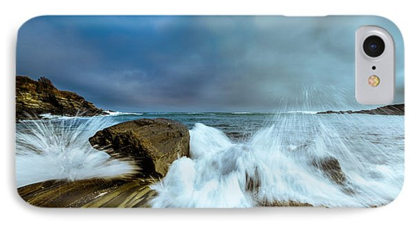 Maine Rocky Coast During Storm At Two Lights IPhone Case