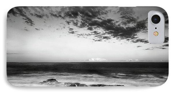Maine Rocky Coast With Boulders And Clouds At Two Lights Park IPhone Case