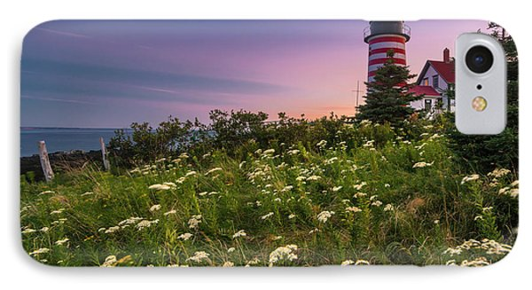 Maine West Quoddy Head Lighthouse Sunset IPhone Case