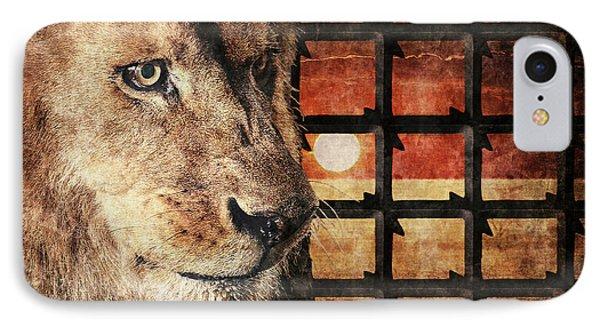 Majestic Lion In Captivity IPhone Case