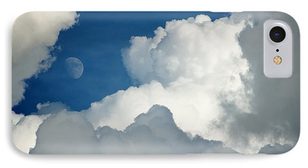 Majestic Storm Clouds With Moon IPhone Case