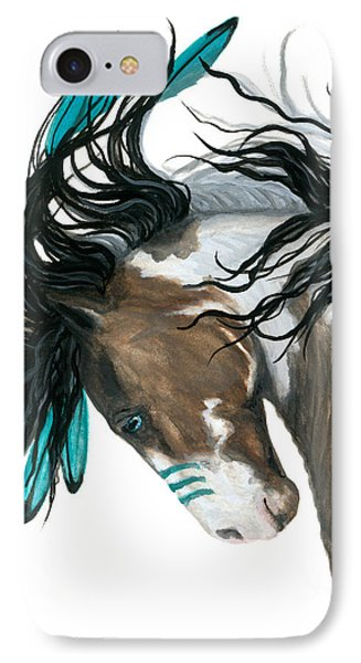 Horse iPhone 8 Case - Majestic Turquoise Horse by AmyLyn Bihrle