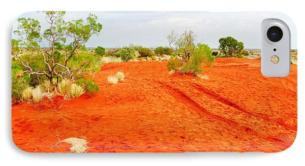 Making Tracks In The Dunes - Red Centre Australia IPhone Case