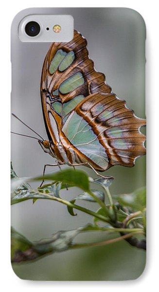 Malachite Butterfly Profile IPhone Case