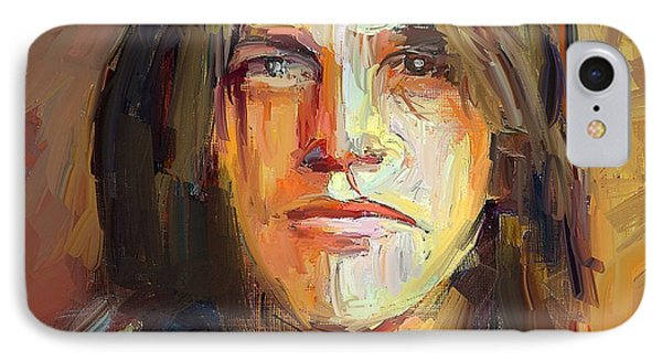 Tribute iPhone 8 Case - Malcolm Young Acdc Tribute Portrait by Yury Malkov