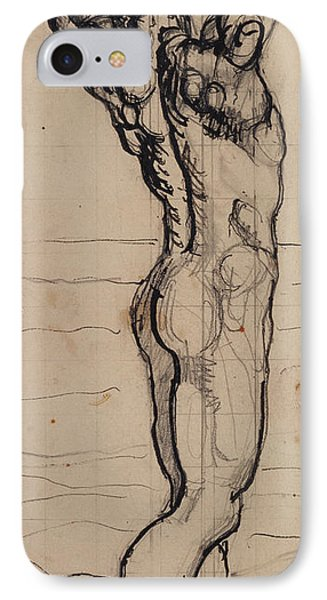 Nudes iPhone 8 Case - Male Act   Study For The Truth by Ferdninand Hodler