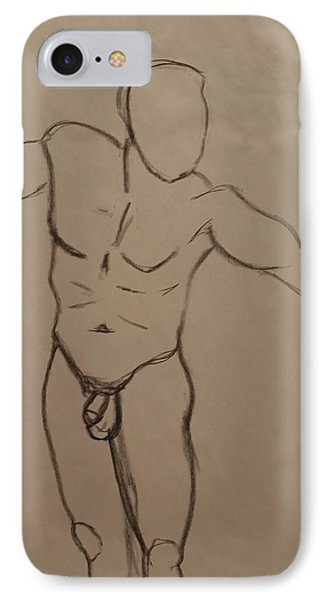 Male Nude Drawing 2 IPhone Case